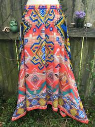 Aztec Traveler Hankie Hem Skirt