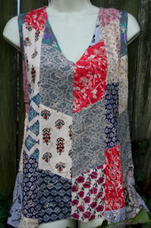 Sweet Meadow Patchwork Fair Trade Sleeveless Top