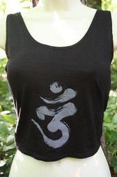 Peace, Love & Meditation Backless Fair Trade Top