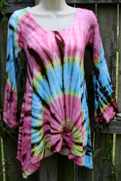 Mountain Sunset Fair Trade Tie Dye Top III