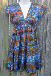Indian Rain Ruffle Hem Dress (S & M only)