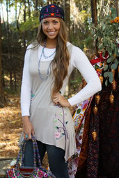 Wanderlust Wanderer Fair Trade Appliqued Dress / Tunic
