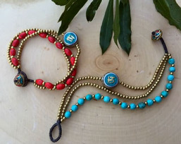 . Peaceful Path Fair Trade Om Bracelet