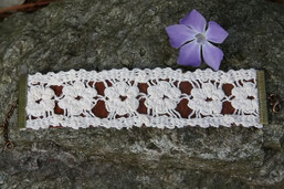 Leather & Lace Handmade Vegan Cuff Bracelet