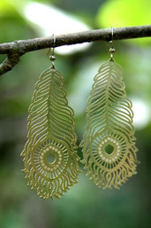 Bohemian Paradise Peacock Feather Earrings