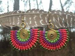 Rainbow Warrior Tribal Earrings