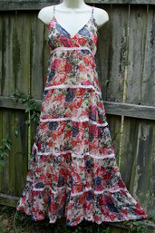 Rose Garden Romance Vintage Tiered Dress