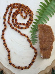 Amber Marigold Natural Gemstone Necklace