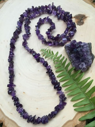 Amethyst Sky Natural Gemstone Necklace