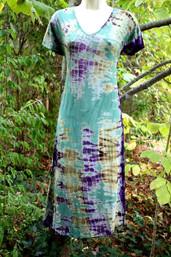 Forest Dew Fair Trade Tie Dye Dress