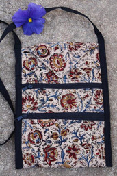 Rustic Roots Fair Trade Tri-Pocket Ethnic Purse - Ocean