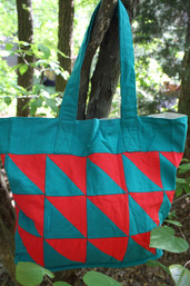 .Fair Trade Water & Fire Patchwork Tote