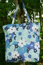 Wildflower Canvas Tote - Cloud