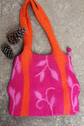 Fair Trade Mountain Air Felted Wool Purse - Appalaichain