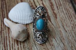 Navajo Breeze Large Turquoise Ring