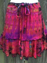 Wild Rose Fair Trade Tie Dye Mini Skirt