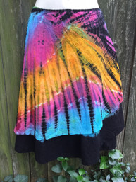 Tie Dye Dream One-Of-A-Kind Layered Wrap Skirt