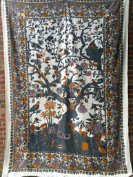 Peaceful Forest Tree of Life Tapestry