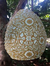 Boho Garden Beehive Fair Trade Fabric Lantern