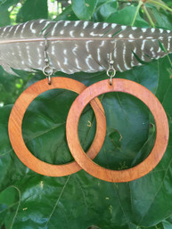 Forest Echo Large Wooden Hoop Earrings
