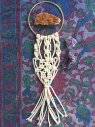 Bohemian Home Handmade Macrame Wall Art - Natural Small
