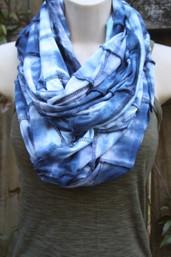 Indigo Sky Fair Trade Patchwork Tie Dye Infinity Scarf