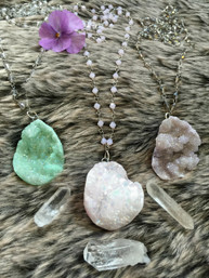 Harmony & Healing Handmade Quartz Cluster Long Necklace