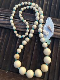 Sea Breeze Long Wooden Necklace