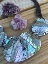Ocean Oaks Abalone & Wooden Necklace
