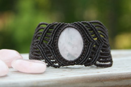Earth Goddess Micro Macrame Rose Quartz Bracelet