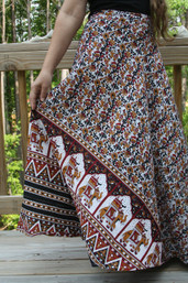 Elephant Daydream Fair Trade Wrap Skirt II