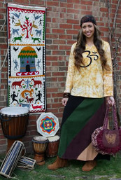 Forest Retreat Fair Trade Corduroy Skirt