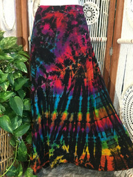 Wild Rainbows Tie Dye Wrap Skirt