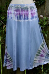 Peaceful Vibe Fair Trade Tie Dye SKirt - Rain