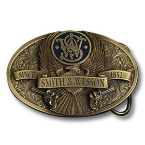 Smith & Wesson Brass Eagle Belt Buckle