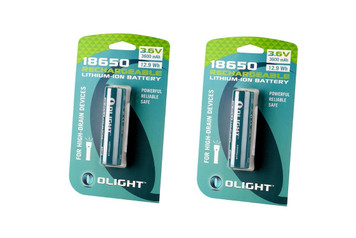 Olight 3600mAh 18650 protected Li-ion rechargeable battery 2 Pack
