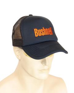BUSHNELL Navy Trucker Cap with Orange Logo