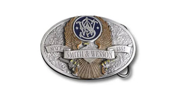 Smith & Wesson Pewter Eagle Belt Buckle