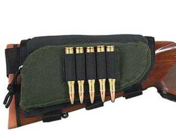 Allen Buttstock Rifle Cartridge Holder with Pouch