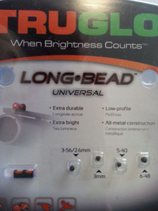 Truglo Universal Long Bead Sight Red