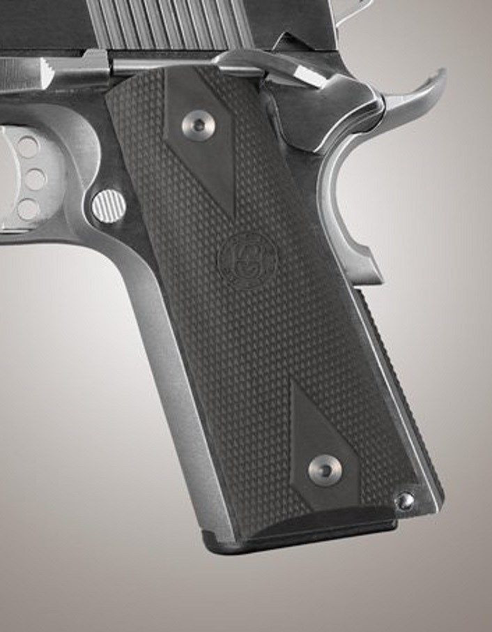 Hogue Grips Colt Government  45, 1911 Rubber Grip Checkered