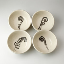 Set of 4 Cereal Bowls: Ferns