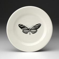 Bread Plate: Zebra Butterfly