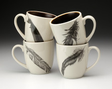 Set of 4 Mugs: Feathers