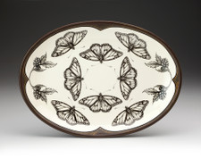 Small Oval Platter: Monarch Butterfly