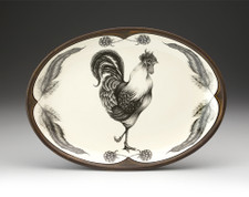Oval Platter: Rooster