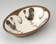 Large Serving Dish: Rooster