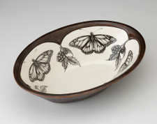 Large Serving Dish: Monarch Butterfly