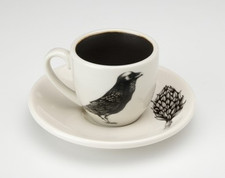 Espresso Cup and Saucer: Raven
