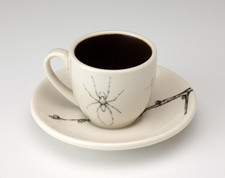 Espresso Cup and Saucer: Cave Spider